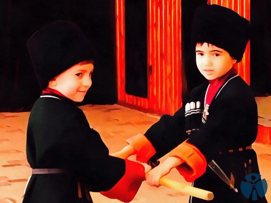 В адыгском детском фольклоре колыбельные песни занимают особое место